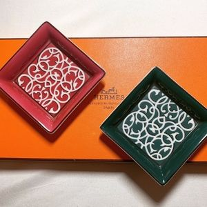 Hermes Porcelain Ashtrays (set of two)